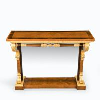 Striking George IV Amboyna, Rosewood & Gilt Console Table attributed to Morel & Seddon (8 of 12)