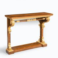 Striking George IV Amboyna, Rosewood & Gilt Console Table attributed to Morel & Seddon (9 of 12)