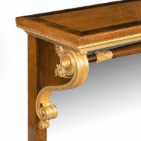 Striking George IV Amboyna, Rosewood & Gilt Console Table attributed to Morel & Seddon (7 of 12)