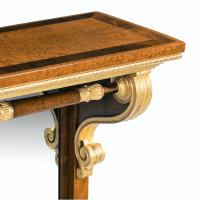 Striking George IV Amboyna, Rosewood & Gilt Console Table attributed to Morel & Seddon (12 of 12)