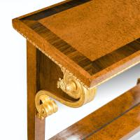 Striking George IV Amboyna, Rosewood & Gilt Console Table attributed to Morel & Seddon (4 of 12)
