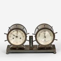 Novelty Nautical Clock & Barometer Set by Westbury Clock Co USA