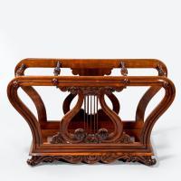 Unusual Late Regency Rosewood Music Roll Holder