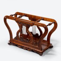 Unusual Late Regency Rosewood Music Roll Holder (2 of 3)