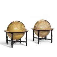 Pair of Cary's 15-Inch Table Globes