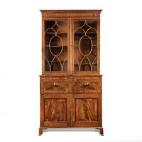 Late George III Mahogany Secretaire Bookcase attributed to Gillows