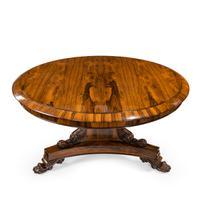 Regency Figured Rosewood Tilt-Top Centre Table (9 of 12)