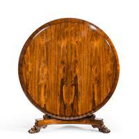 Regency Figured Rosewood Tilt-Top Centre Table (10 of 12)
