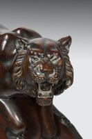 Meiji Period Carved Wooden Tiger (3 of 4)