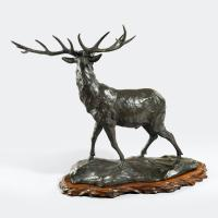 A Magnificent Bronze Stag by Genryusai Seiya (2 of 5)