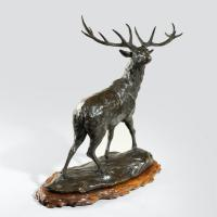 A Magnificent Bronze Stag by Genryusai Seiya (4 of 5)
