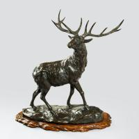 A Magnificent Bronze Stag by Genryusai Seiya (5 of 5)