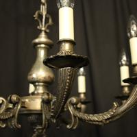 French Silver Plated 8 Light Antique Chandelier (10 of 10)