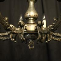 French Silver Plated 8 Light Antique Chandelier (4 of 10)