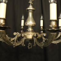 French Silver Plated 8 Light Antique Chandelier (3 of 10)
