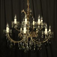 Italian 14 Light Silver Chandelier c.1930