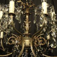 Italian 14 Light Silver Chandelier c.1930 (6 of 10)