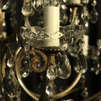 Italian 14 Light Silver Chandelier c.1930 (4 of 10)