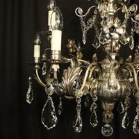 Italian Silver & Crystal Genoa 9 Light Chandelier (10 of 10)