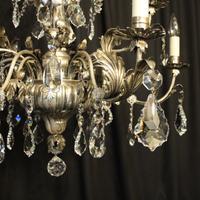 Italian Silver & Crystal Genoa 9 Light Chandelier (8 of 10)