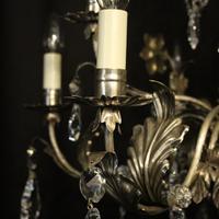 Italian Silver & Crystal Genoa 9 Light Chandelier (6 of 10)