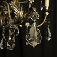 Italian Silver & Crystal Genoa 9 Light Chandelier (5 of 10)