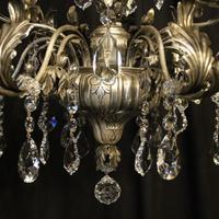 Italian Silver & Crystal Genoa 9 Light Chandelier (3 of 10)