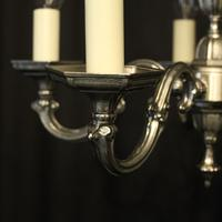 French Silver Gilded 5 Light Chandelier (2 of 10)
