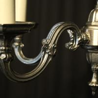 French Silver Gilded 5 Light Chandelier (3 of 10)