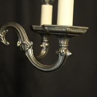 French Silver Gilded 5 Light Chandelier (4 of 10)