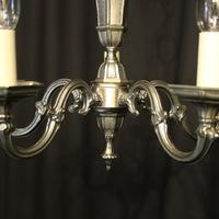 French Silver Gilded 5 Light Chandelier (5 of 10)