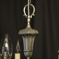 French Silver Gilded 5 Light Chandelier (7 of 10)