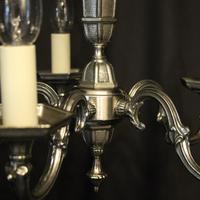 French Silver Gilded 5 Light Chandelier (8 of 10)