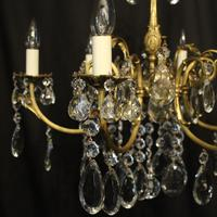 French Bronze & Crystal 6 Light Chandelier (2 of 10)