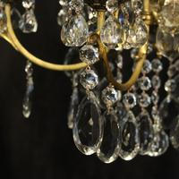 French Bronze & Crystal 6 Light Chandelier (4 of 10)