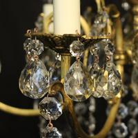 French Bronze & Crystal 6 Light Chandelier (5 of 10)
