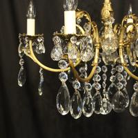French Bronze & Crystal 6 Light Chandelier (6 of 10)
