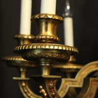 French Gilded Bronze 8 Light Antique Chandelier (4 of 10)