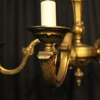 French Gilded Bronze 5 Light Antique Chandelier (2 of 10)