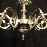 English Silver Plated 8 Light Antique Chandelier (7 of 10)