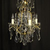 French Birdcage 5 Light Antique Chandelier (2 of 10)