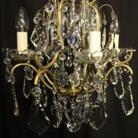 French Birdcage 5 Light Antique Chandelier (4 of 10)