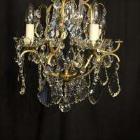 French Birdcage 5 Light Antique Chandelier (5 of 10)