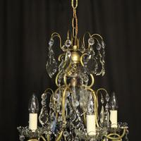French Birdcage 5 Light Antique Chandelier (9 of 10)