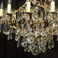 French Gilded Bronze Crystal Antique Chandelier (5 of 10)