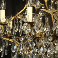 French Gilded Bronze Crystal Antique Chandelier (6 of 10)