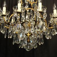 French Gilded Bronze Crystal Antique Chandelier (7 of 10)