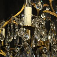 French Gilded Bronze Crystal Antique Chandelier (8 of 10)