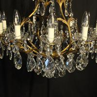 French Gilded Bronze Crystal Antique Chandelier (9 of 10)