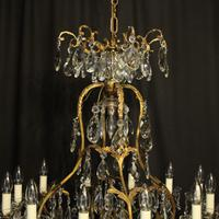 French Gilded Bronze Crystal Antique Chandelier (2 of 10)